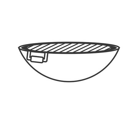 roaster: Steak house concept represented by roaster icon. isolated and flat illustration