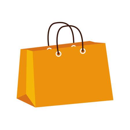商業コンセプトはショッピング バッグ アイコンで表されます。分離とフラットの図