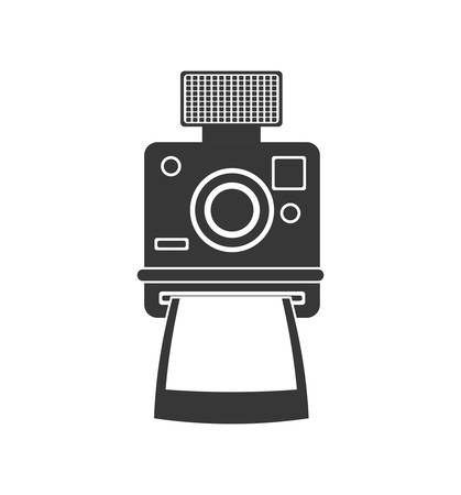 digicam: Retro and vintage technology concept represented by camera icon. isolated and flat illustration