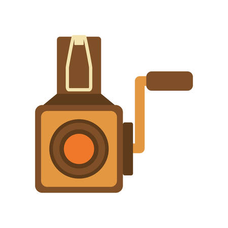 videocamera: Retro and vintage technology concept represented by videocamera icon. isolated and flat illustration