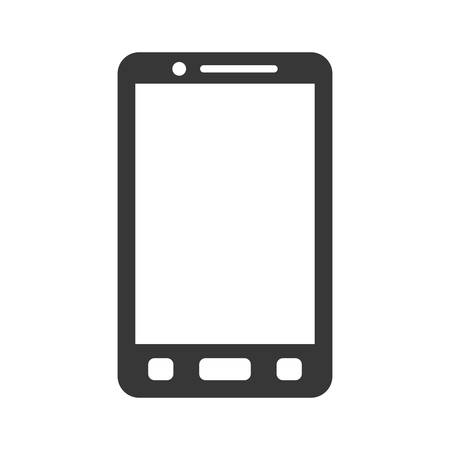 represented: Mobile concept represented by cellphone icon. isolated and flat illustration