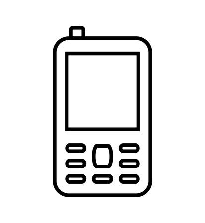 cellphone icon: Mobile concept represented by cellphone icon. isolated and flat illustration