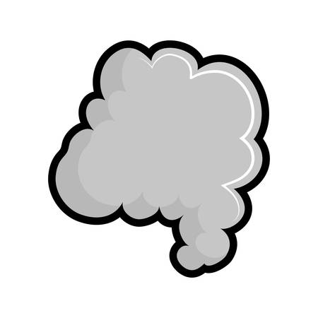 fog: Fog concept represented by smoke icon. isolated and flat illustration