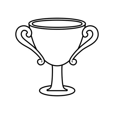 competitors: Winner concept represented by trophy cup icon. isolated and flat illustration Illustration