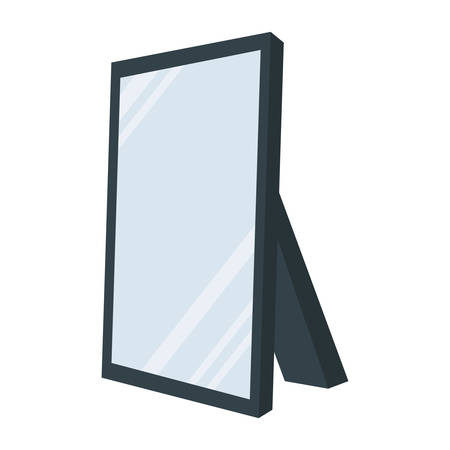 mirror frame: Mirror concept represented by frame icon. isolated and flat illustration