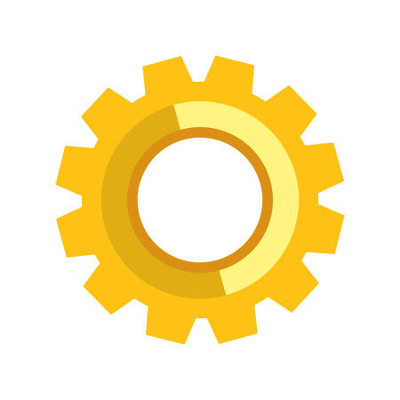 machine part: Machine part concept represented by gear icon. isolated and flat illustration Illustration