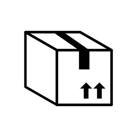 package icon: Delivery concept represented by package icon. Isolated and Flat illustration Illustration