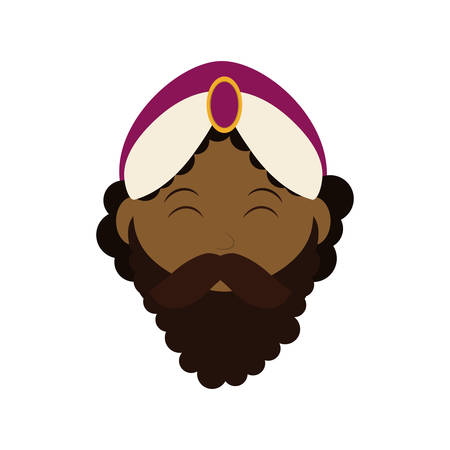 wise man: Merry Christmas concept represented by wise man cartoon icon. isolated and flat illustration