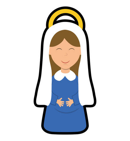 maria: Merry Christmas concept represented by maria cartoon icon. isolated and flat illustration Illustration