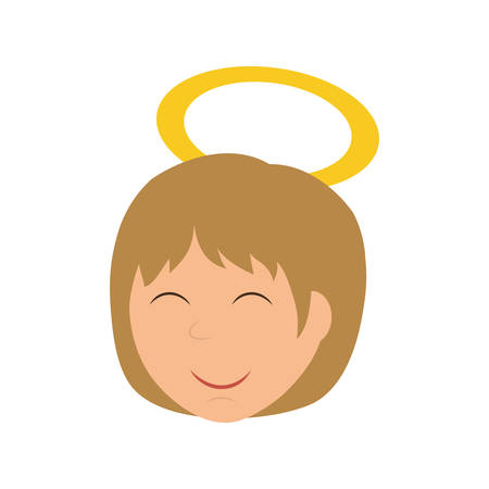 church family: Merry Christmas concept represented by angel  icon. isolated and flat illustration