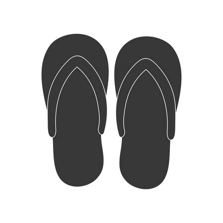 sandals: Summer concept represented by sandals icon. isolated and flat illustration