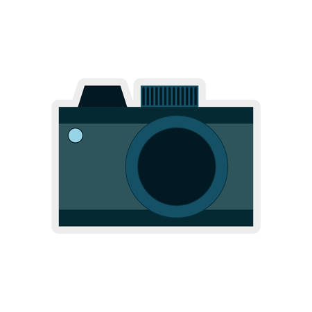 digicam: Gadget concept represented by camera  icon. isolated and flat illustration Illustration