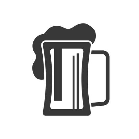 represented: Beer concept represented by glass icon. isolated and flat illustration