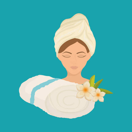 flower bath: Spa center concept with icon design, vector illustration 10 eps graphic.