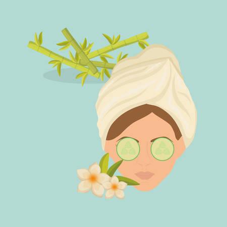 Concept de centre de spa avec design d'icône, illustration vectorielle illustration 10 eps. Vecteurs