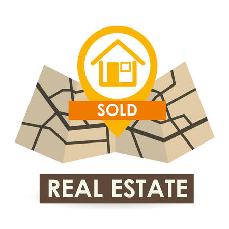 home buyer: Real Estate concept with icon design