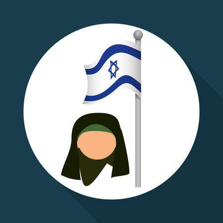 Israel concept with icon design