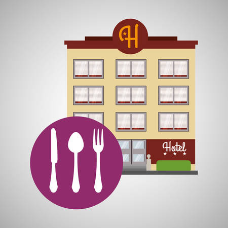 pensions: Hotel  concept with icon design