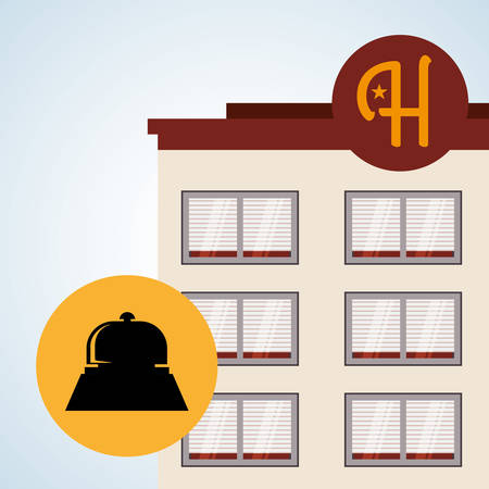 hotel lobby: Hotel concept with icon design Illustration