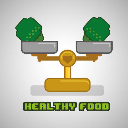 produce product: Healthy food concept with icon design