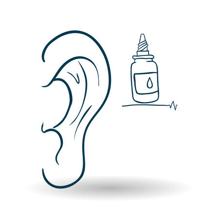 ear drop: Medical care concept with icon design