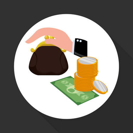financial item: Financial item concept with icon design