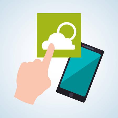 wheater: smartphone concept with icon design
