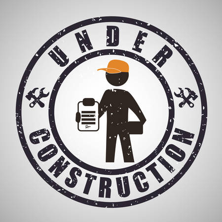construction icon: Under construction concept with icon design