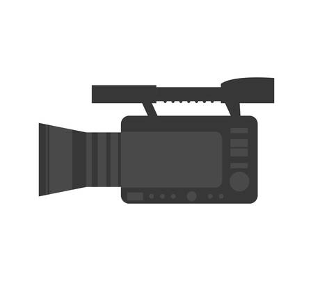 videocamera: Broadcasting concept represented by videocamera icon. isolated and flat illustration