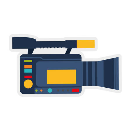 represented: Broadcasting concept represented by videocamera icon. isolated and flat illustration