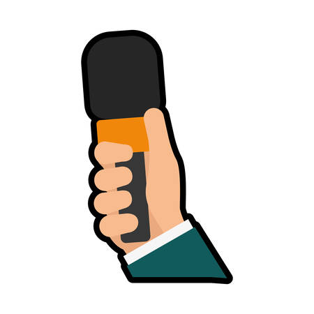 broadcasting: Broadcasting concept represented by microphone icon. isolated and flat illustration Illustration