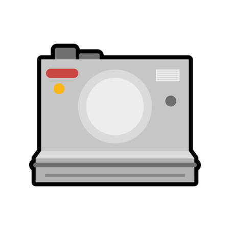 digicam: Gadget and technology concept represented by camera icon. isolated and flat illustration Illustration