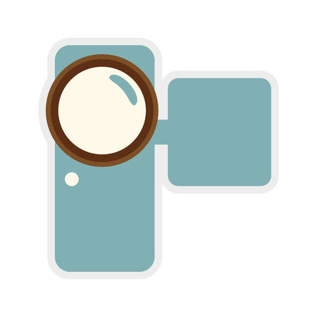 videocamera: Movie concept represented by Videocamera icon. isolated and flat illustration