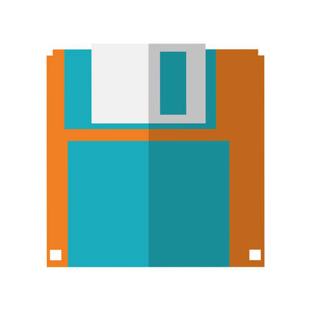 floppy drive: Gadget and technology concept represented by diskette icon. isolated and flat illustration