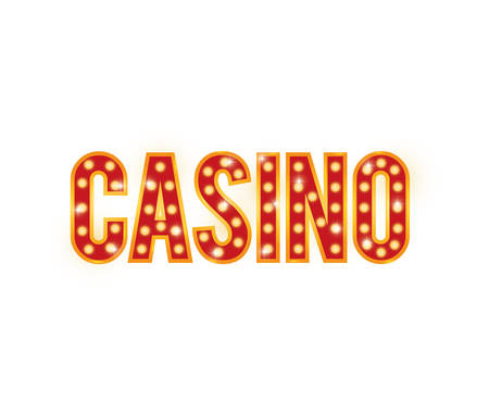 represented: Casino concept represented by letters icon. isolated and flat illustration