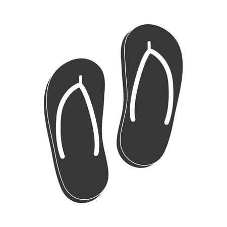 sandals isolated: Summer concept represented by sandals icon. isolated and flat illustration