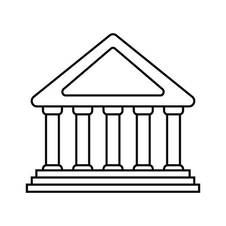financial item: Money and financial item concept represented by bank icon. isolated and flat illustration Illustration