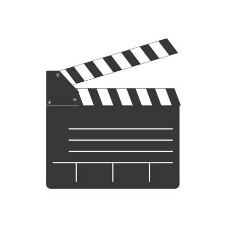 clapboard: Movie concept represented by clapboard icon. isolated and flat illustration Illustration