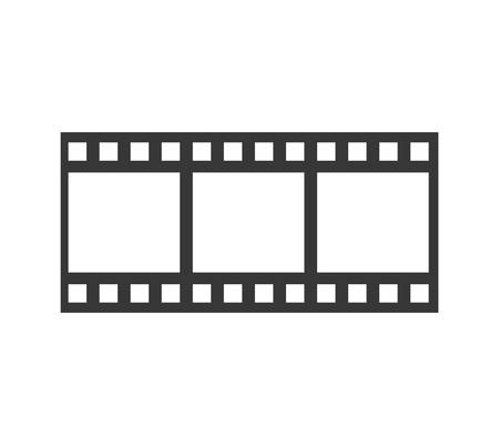strip show: Movie concept represented by film strip icon. isolated and flat illustration