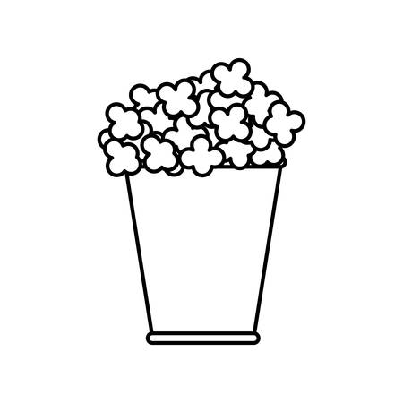 pop corn: Food concept represented by pop corn icon. isolated and flat illustration
