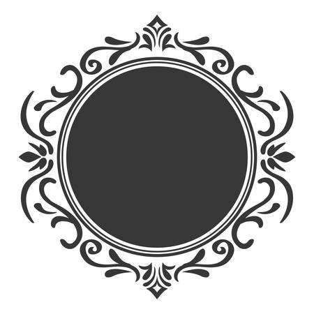 stamp seal: Vintage draw concept represented by seal stamp icon. isolated and flat illustration