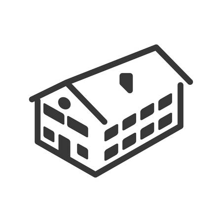 luxury home exterior: Building concept represented by house  icon. isolated and flat illustration Illustration