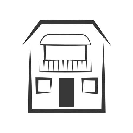represented: Building concept represented by house  icon. isolated and flat illustration Illustration