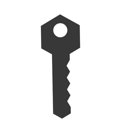 safeguard: Security concept represented by key icon. isolated and flat illustration