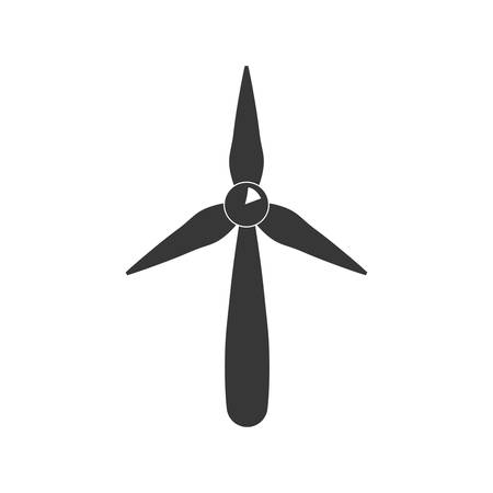 abstract mill: Save energy and eco concept represented by wind mill icon. isolated and flat illustration
