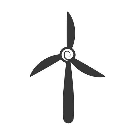 wind mill: Save energy and eco concept represented by wind mill icon. isolated and flat illustration