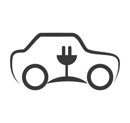eco car: Save energy and eco concept represented by eco car icon. isolated and flat illustration