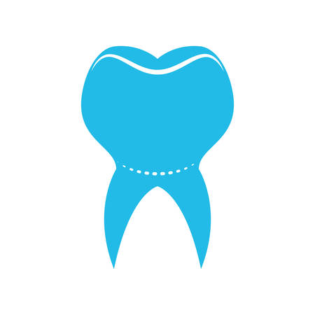 doctor appointment: Dental care concept represented by tooth icon. isolated and flat illustration