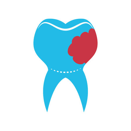 hygienist: Dental care concept represented by tooth icon. isolated and flat illustration
