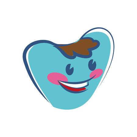 hygienist: Dental care concept represented by cartoon tooth icon. isolated and flat illustration Illustration